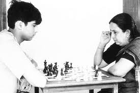 Vishy with mom