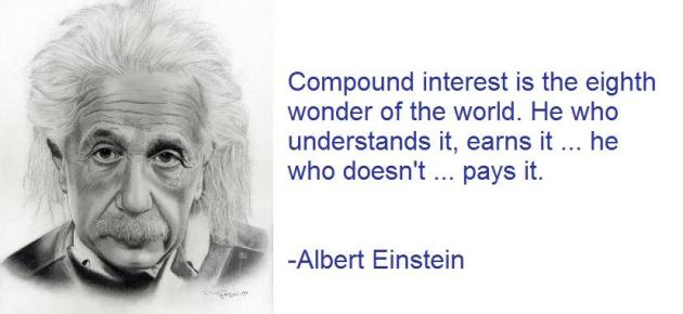 Albert Einstein compound interest